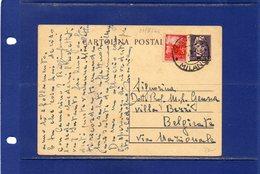 ##(DAN185)-1946-cartolina Postale Turrita Cent.50 Filagrano C120 Da Codogno Per Belgirate - Storia Postale