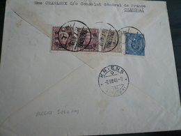 China-Cina Shanghai 26.7.1946 Registerd  Letter To Switzerland 8.8.1946 Arrival Cancel - Cina
