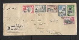 Nyasaland, GVIR 1/2d - 4d, Registered LILONGWE 19 JUL 47 > S.Africa - Nyassaland (1907-1953)