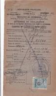 DELAHAYE 87 1926 / Recipissé  Declaration  Mise En Circulation  Vehicule A Moteur / PREF 66 TIMBRE - Cars