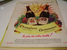 ANCIENNE PUBLICITE VIN CRAMOISAY ET CHAMPLURE 1958 - Alcoholes