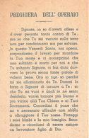 PREGHIERA DELL'OPERAIO - Mm. 70 X 110 - Religione & Esoterismo