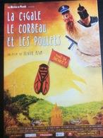 Plaquette 4 Pages : La Cigale, Le Corbeau Et Les Poulets, O. Azam - Merchandising