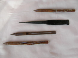 WW1 AERIAL FLECHETTES ALLEMANDES 4 SORTES DIFFERENTS - Knives/Swords