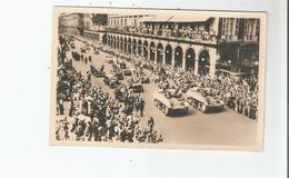 LIBERATION DE PARIS (1944) 16 CARTE PHOTO LE CORTEGE OFFICIEL RUE DE RIVOLI (TANKS JEEPS) GUERRE 1939 1945 - Weltkrieg 1939-45