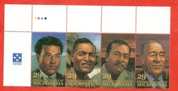 Micronesia 1993. Politicians. A Strip Of 4 Stamps. - Micronesia