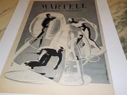 ANCIENNE PUBLICITE EN TOUTES SAISONS  UN  COGNAC MARTELL 1954 - Alcoholes