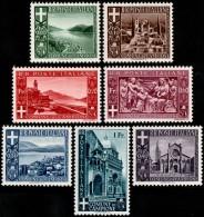 ~~~ Italy Campione 1944 - Autonome Enclave In Switzerland - Mi. 6/12 ** MNH  ~~~ - 1944-45 République Sociale