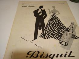 ANCIENNE AFFICHE PUBLICITE COGNAC   BISQUIT 1955 - Alcoholes