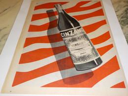 ANCIENNE PUBLICITE APERITIF  CINZANO 1955 - Alcoholes