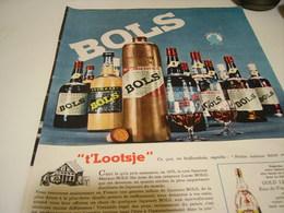 ANCIENNE PUBLICITE LIQUEUR BOLS 1962 - Alcoholes