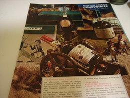 ANCIENNE AFFICHE PUBLICITE COGNAC COURVOISIER 1962 - Alcoholes