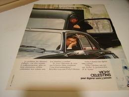 ANCIENNE PUBLICITE  VICHY CELESTINS POUR DIGERER 1974 - Posters