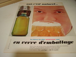 ANCIENNE PUBLICITE VERRE EMBALLAGE 1964 - Posters