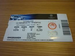 Olympiakos Olympiacos-Juventus UEFA Champions League Football Match Ticket Stub 22/10/2014 (hologram) - Match Tickets