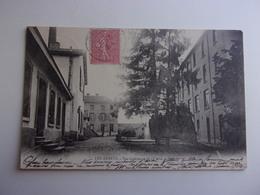 LES ABRETS   VUE INTERIEURE DE L USINE DE SOIERIE  EN 1904 - Other Municipalities