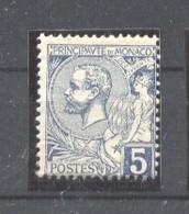 Monaco 1891 Albert I 5C Blau Mi.13 MH AM.542 - Neufs