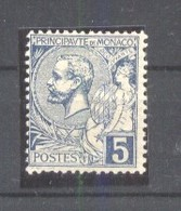 Monaco 1891 Albert I 5C Blau Mi.13 MH AM.543 - Neufs