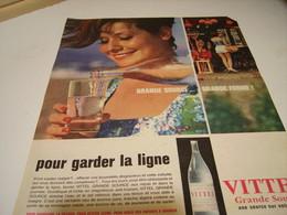 ANCIENNE PUBLICITE POUR GARDER LA LIGNE MON VITTEL 1961 - Posters