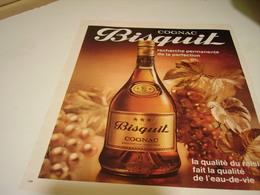 ANCIENNE PUBLICITE COGNAC   BISQUIT 1970 - Alcoholes