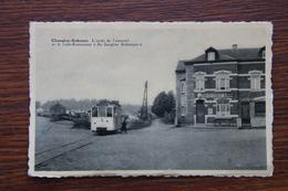 """Champlon Ardennes - Gare Station Arrêt Du Tram Vicinal Autorail Marche Bastogne """"au Sanglier Ardennais"""" - Tenneville"""