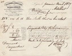 Lettre Voiture 1/4/1835 Louis BELY Maison Roulage LYON Pour Carpentras - Transport