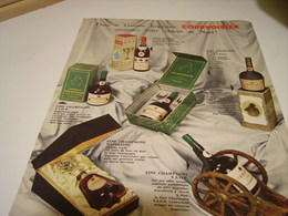 ANCIENNE PUBLICITE COGNAC  COURVOISIER THE BRANDY  1958 - Alcohols