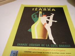 ANCIENNE PUBLICITE LIQUEUR IZARRA 1958 - Alcoholes