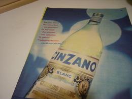 ANCIENNE PUBLICITE APERITIF   CINZANO 1958 - Alcohols
