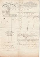 Lettre Voiture 26/1/1836 COMBE &  ROBEQUAIN LA MURE Isère Pour Carpentras Vaucluse - Transport