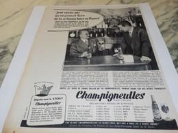 ANCIENNE PUBLICITE BIERE CHAMPIGNEULLES 1958 - Alcoholes