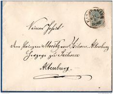 Danmark Kjobenhavn 1878, 20 Ore On Letter To Prince Moritz Von Sachsen-Altenburg, By Helmuth Von Hardenberg ? - 1864-04 (Christian IX)