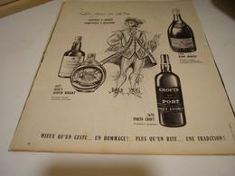 ANCIENNE PUBLICITE LE CHOIX DU ROY  COGNAC REMY MARTIN 1958 - Alcoholes