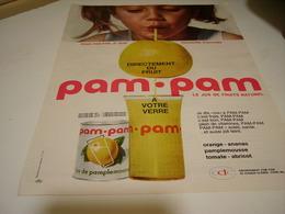 ANCIENNE PUBLICITE JUS DE FRUIT EN BOITE PAM PAM 1962 - Posters