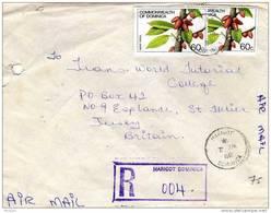 28527. Carta Aerea Certificada MARIGOT (Dominica)  1986 - Dominica (1978-...)