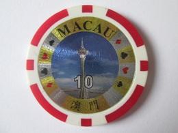 Vintage Token Casino Macau 10,diameter=40 Mm,weight=11.2 Grams - Casino