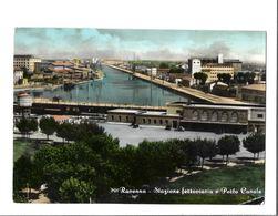 RAVENNA STAZIONE FERROVIARIA. E PORTO CANALE VIAGGIATA FG - Ravenna
