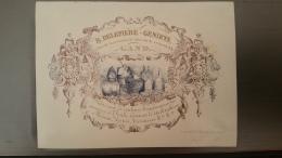 Carte Porcelaine (Porseleinkaart) - Gand (Gent) - B. Delepiere - Geniets - Rue De La Promenade, 13 - Couleurs Broyées - Gent