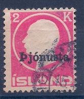 ISLANDE - SERVICE 42  2K ROSE OBL USED COTE 35 EUR - Servizio