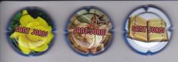 SERIE COMPLETA DE 3 PLACAS DE CAVA MONJOY DE SANT JORDI (CAPSULE) - Mousseux