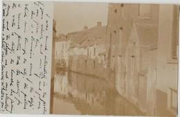 CPA PHOTO BELGIQUE LOUVAIN LEUVEN Un Coin De La Rivière Dyle 1909 Rare - Leuven