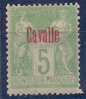 CAVALLE - 2  5C VERT JAUNE TYPE GROUPE NEUF* MLH COTE 25 EUR - Cavalle (1893-1911)