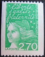 LOT 1668 - 1997 - MARIANNE DE LUQUET - N°3100a ☛ N° ROUGE AU VERSO - France