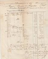 Facture 25/8/1852 FERRATON JOURNOUD Succ De NEYRAUD & THIOLLIERE Clous ST CHAMOND Loire Pour Carpentras - Cachet Postal - 1800 – 1899