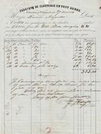 Facture 27/4/1854 COTTA Chassin Clouterie Le Chambon Près St Etienne Loire Pour Dornan Carpentras - Cachet Postal - 1800 – 1899