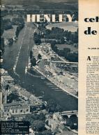 AVIRON, DOCUMENT : HENLEY-ON-THAMES (ANGLETERRE), CETTE MECQUE DE L'AVIRON, COUPURE REVUE (1957), HUIT CAMBRIDGE - Rowing