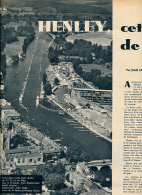 AVIRON, DOCUMENT : HENLEY-ON-THAMES (ANGLETERRE), CETTE MECQUE DE L'AVIRON, COUPURE REVUE (1957), HUIT CAMBRIDGE - Aviron
