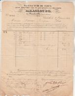 Facture 27/9/1838 LOLOT Clous CHARLEVILLE Ardennes Pour Dornan Carpentras - Cachet Postal - 1800 – 1899