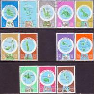 VANUATU 1980 SG #287E//99E Part Set Used Only 40f Missing Used Inscr. In English Maps - Vanuatu (1980-...)