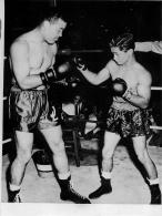 GRANDE PHOTO JOE LOUIS CHAMPION POID LOURD ET DADO MARINO POID COCQ VOIR LES DEUX SCANS  20 X 15 CM - Boxing